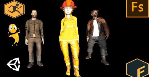Crie seu personagens 3D Mixamo Fuse Completo