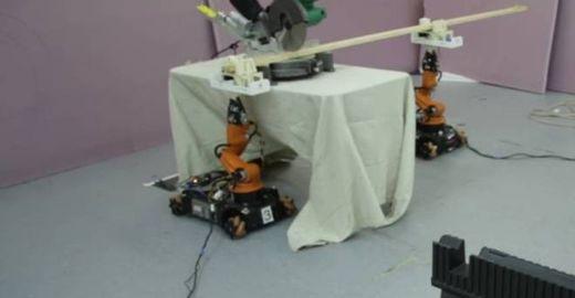 Robôs que criam móveis