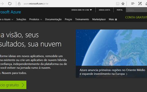Microsoft Azure - Criando uma conta gratuita