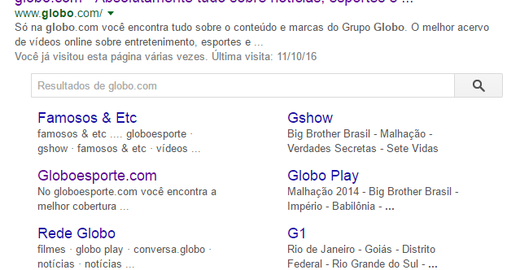 Adicionando Sitelinks Search Box para o seu site