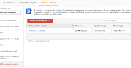 Como utilizar as Métricas Calculadas do Google Analytics