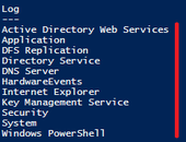 Verificando logs pelo Power Shell – GetEventLog