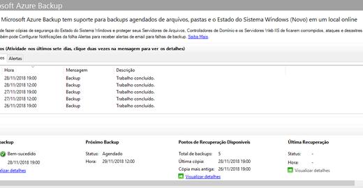 Windows Server 2016 - Configurando o Azure Backup - MARS