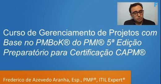 Curso Online Gratuito Preparatório para Certificação CAPM