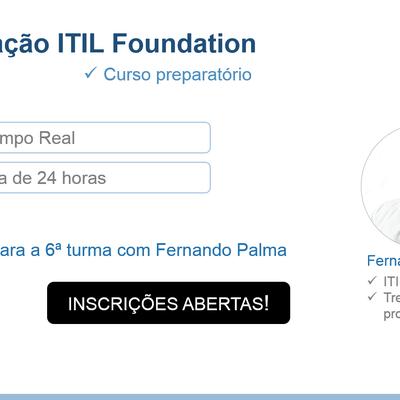 Curso preparatório para certificação ITIL Foundation