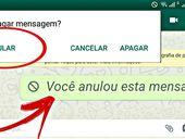 Já estava na hora! Whatsapp libera função de apagar mensagens envia...