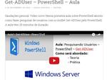 Get-ADUser – PowerShell – Aula