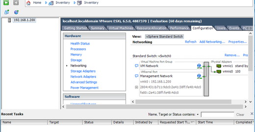Configurando Switches virtuais no ESXi – part. 01