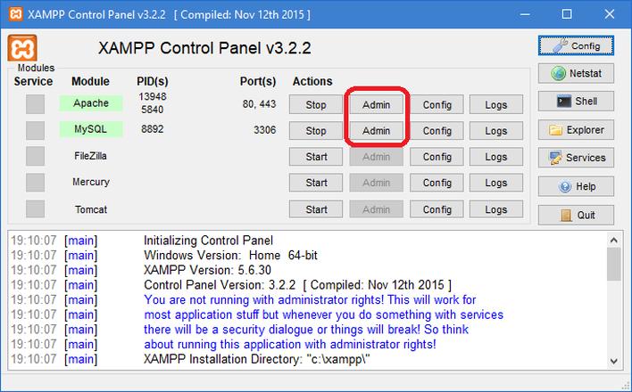 Xampp instalao portal gsti a instalao de seu servidor xampp foi concluda com sucesso caso as pginas abaixo sejam exibidas stopboris Gallery