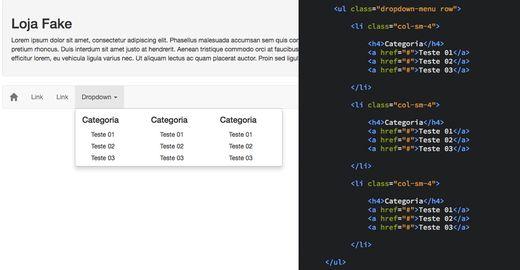 Como criar um menu Dropdown com múltiplas colunas no Bootstrap