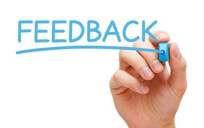 Não tenha medo de receber feedbacks