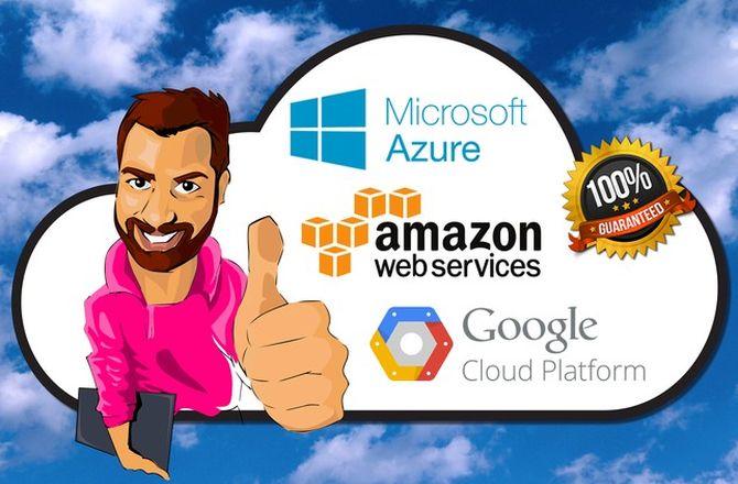 Imagem destacada do curso Curso de Cloud Computing - AWS, Google Cloud e Azure - Dados na nuvem